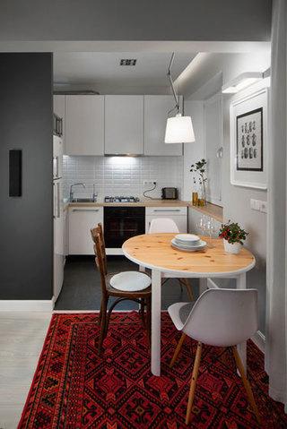 现代简约风格公寓古典白色餐厅吊顶餐厅灯效果图