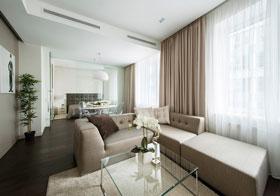 幾何與色彩創造強烈節奏感 60平方米莫斯科現代公寓