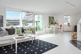 田园诗般的生活 132平米复式阁楼公寓效果图