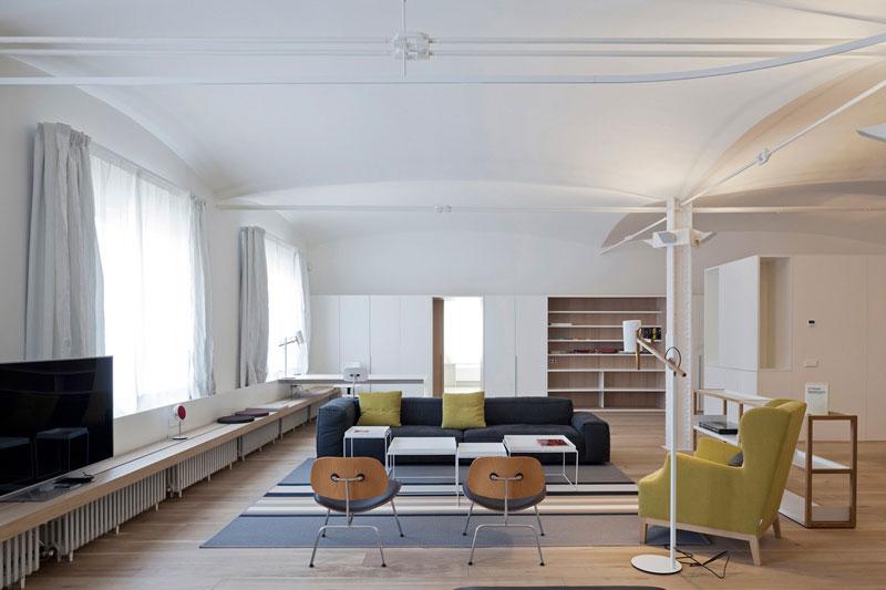 loft风格公寓白色装修效果图
