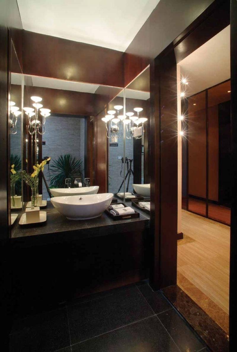 简约中式风格2013别墅欧式奢华3m卫生间效果图图片