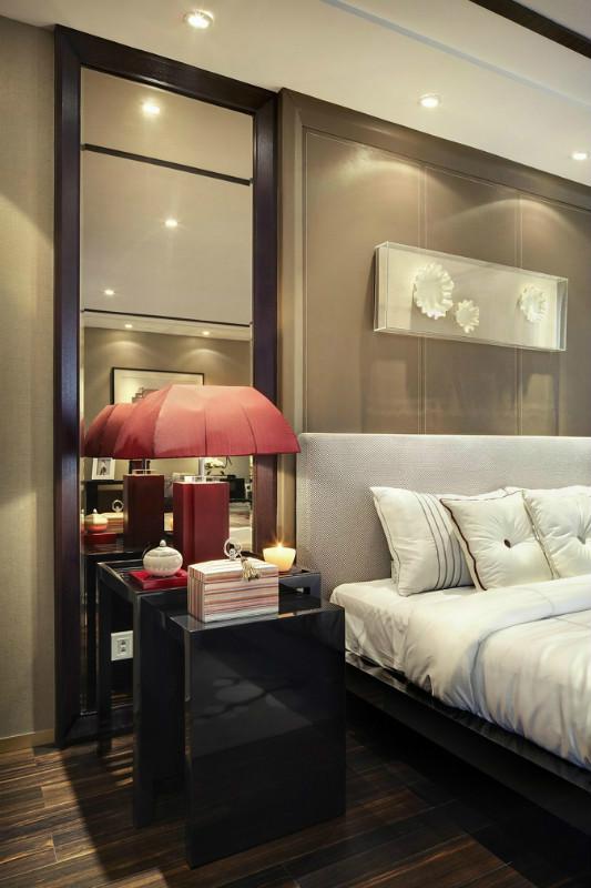 現代中式別墅樣板房 時尚雅致格局簡約奢華