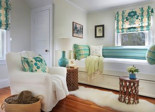 田园风温馨复式住宅 自然清新的色彩