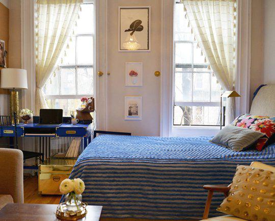 纽约的完美小户型 客厅亦是卧室和书房