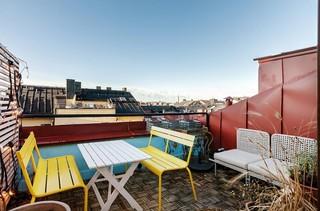 91平时尚色彩系家居 美丽的露台风景