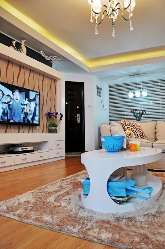 100平米三居室住宅设计 紫色柔情简约风
