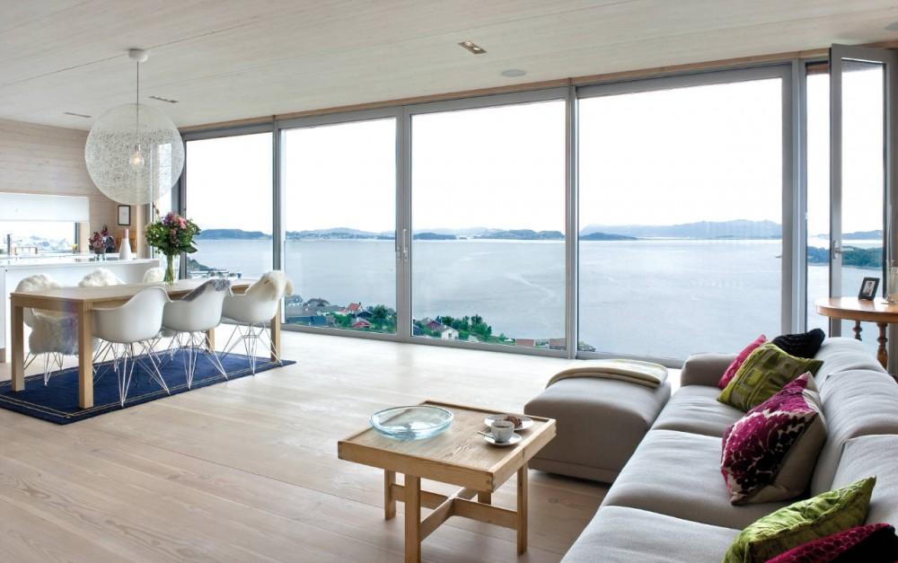 开阔的视野自然的融合 欧式落地窗观景房欣赏