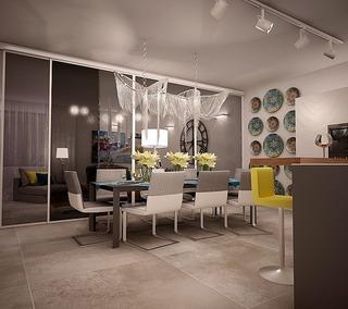 可以参考的家居装饰 灯饰布置很有特色