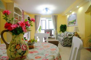 邂逅田园风美家 黄色调悠然自闲两居室