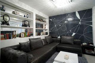 100平现代简约三居室 一家四口的幸福居