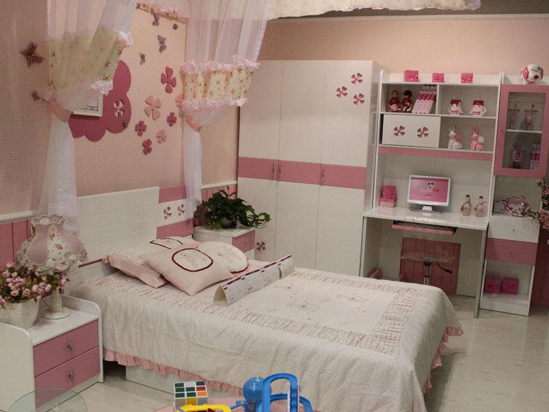 可爱房间粉色儿童房间布置装修效果图