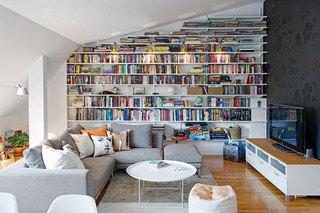 爱上一面墙 浓郁书香气息百年北欧公寓