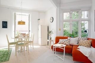 瑞典精致49平小公寓 夏日的清凉家装