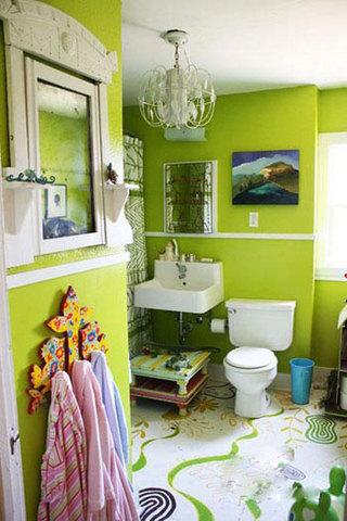 绿色墙面家居装饰 让你的家小清新起来