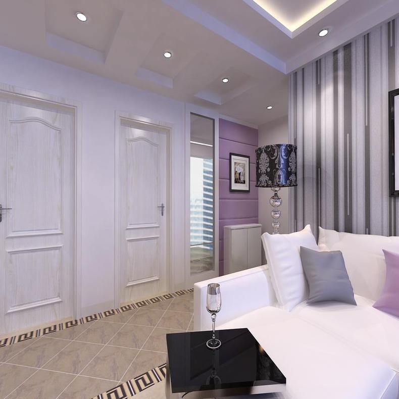 淡紫色的浪漫情怀 跃层现代风格装饰设计