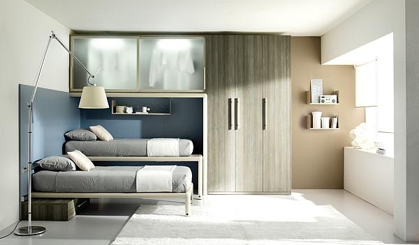 现代简约风格舒适12平米卧室装修图片