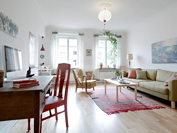 亮麗的白色調家居 橡木家具與地板裝修