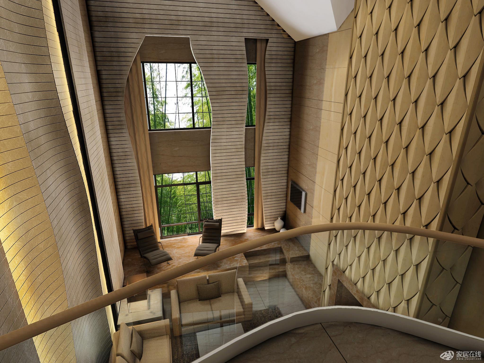 梦幻家具小复式楼梯卧室窗户效果图