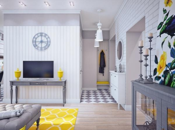 蓝色和黄色的完美搭配 小户型清新家