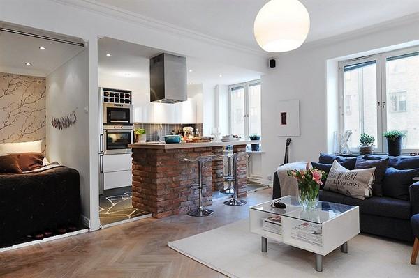 42平米小户型装修 时尚现代开放式厨房