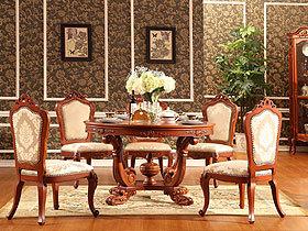 高端大气欧式实木餐桌演绎新古典主义