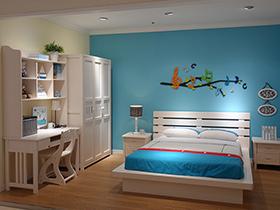 臥室流行現代簡約風 8套白色家具效果圖