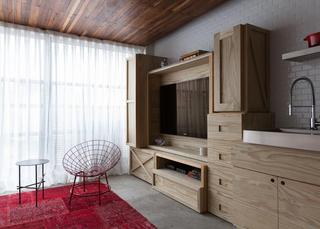 巴西36平米紧凑多彩小户型公寓
