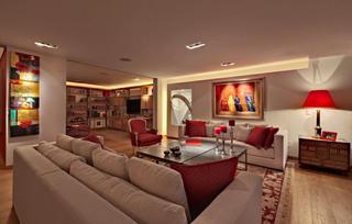 暗红色主题现代公寓