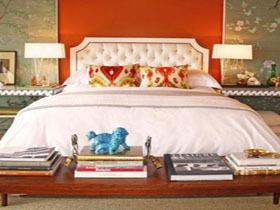 68个时尚橙色卧室参考