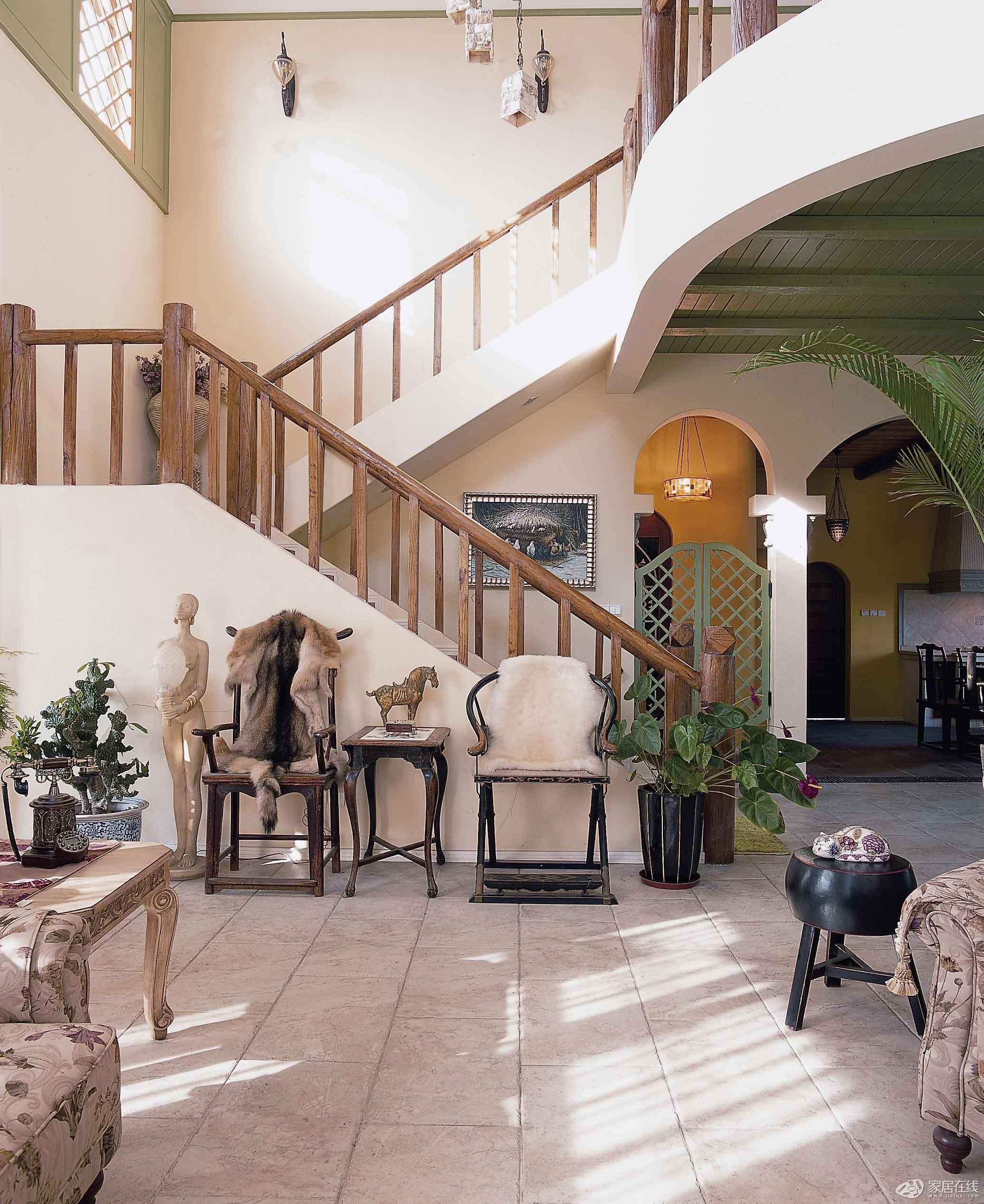 简欧风格卧室古典15平米客厅室内阁楼楼梯设计图图片