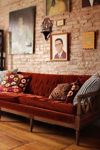 现代简约、新中式、宜家风格、美式客厅沙发区集锦