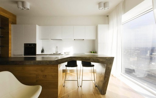 趣味厨房吧台 打造创意开放式小户型