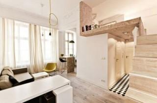 超有创意的29平小户型 复古地板显韵味