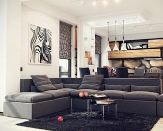 20款现代客厅设计 不同格局不同装饰