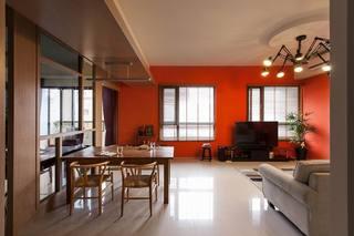 欢快温暖装点幸福 橙色背景墙个性之家
