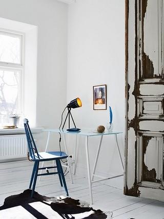 斯堪的纳维亚的破旧美 来自瑞典的公寓