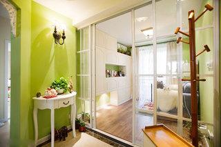 110平方美式小清晰苹果绿色家