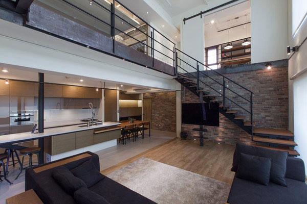 优雅的台湾现代公寓 两层空间的简约美