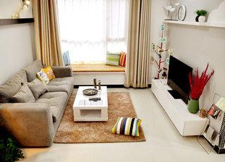 九万装74平米二居室 简约现代开放空间