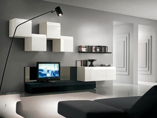 属于客厅各式各样的电视墙
