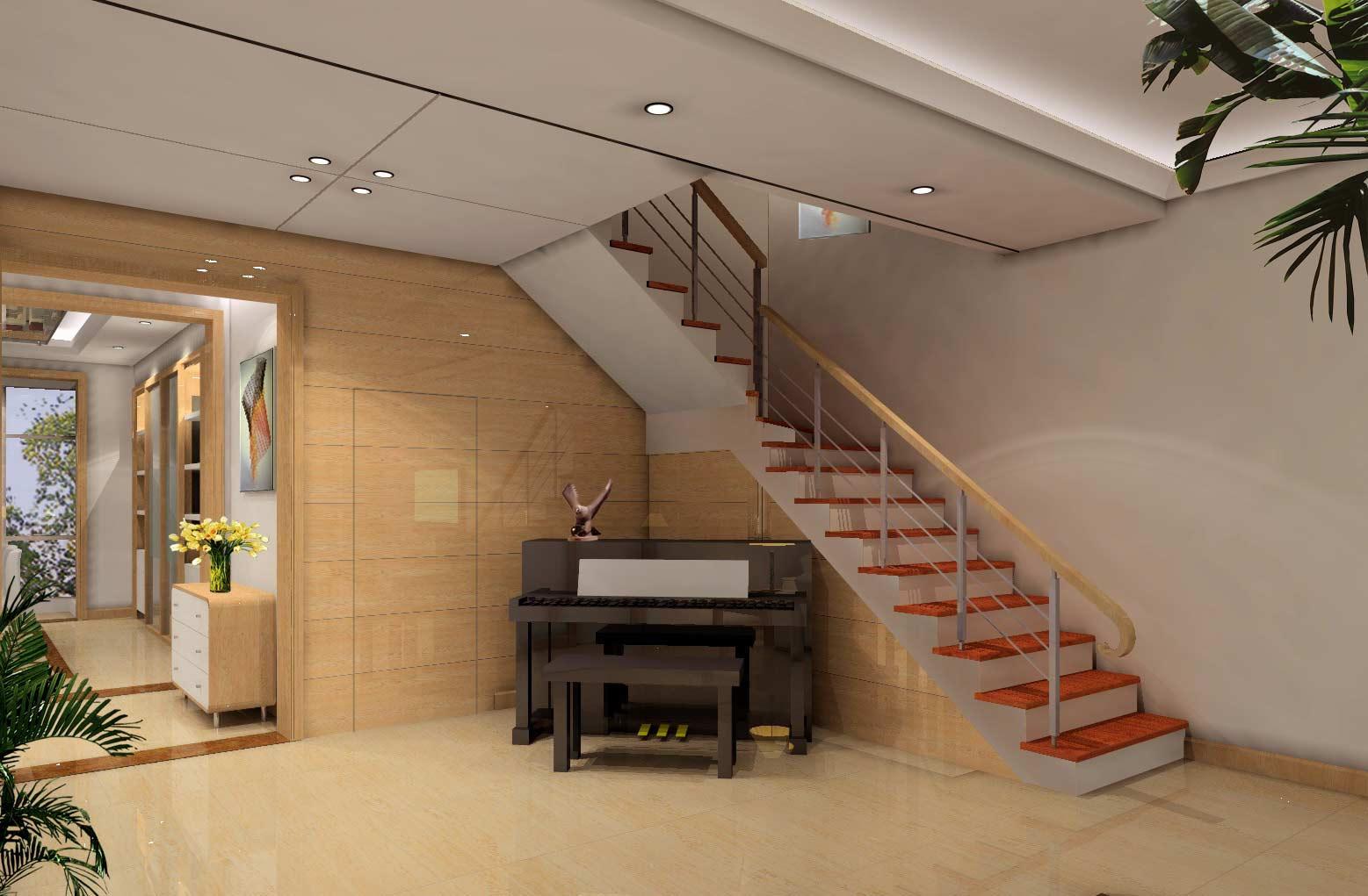 楼梯间的客厅 可以很不一样_齐家网装修效果图