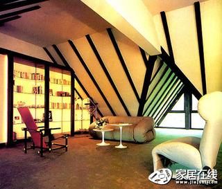 淡黄现代风格打造个性书房