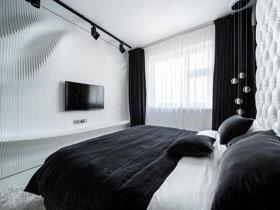 黑白搭配簡約臥室
