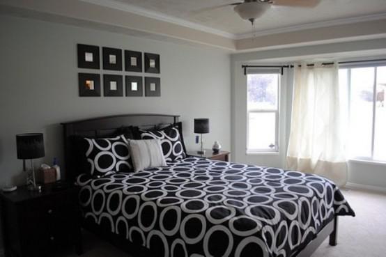青少年卧室设计 卧室,黑白,稳重,现代简约风格