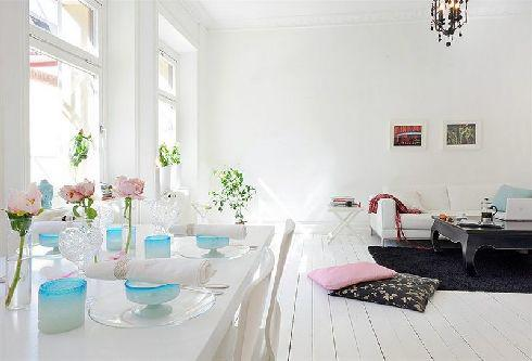 北欧风格简洁白色效果图