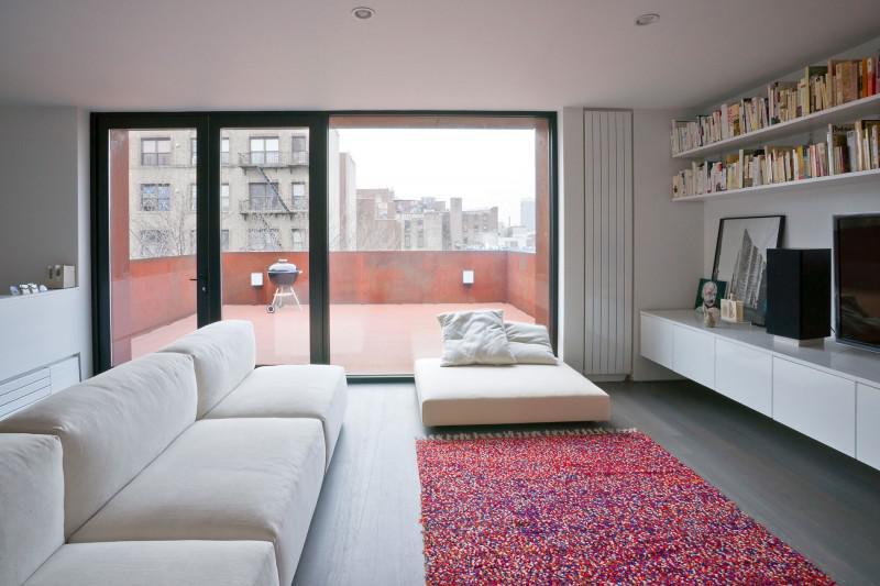 灰色時尚現代復式公寓
