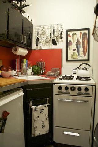 简欧风格小户型浪漫白色整体厨房设计图
