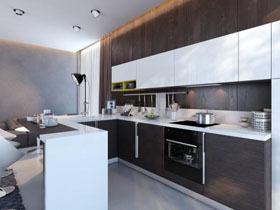 现代开放强烈对比厨房
