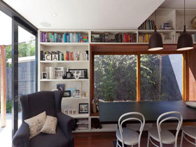 現代靠窗廚房設計