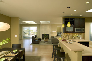 精致开放式厨房  清爽浴室设计
